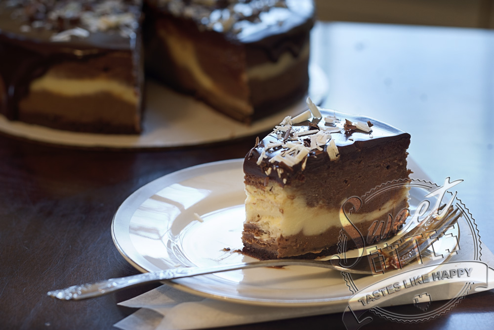 Home / Menu /Shop / Cheesecakes / Triple Chocolate Cheesecake