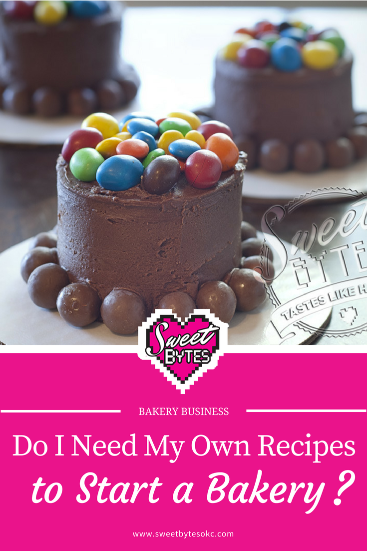 3 Mini Cakes with candy m&m's and whoppers above Pink article title