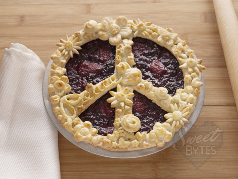 Peace Pie created from pie crust to celebrate Peace Day