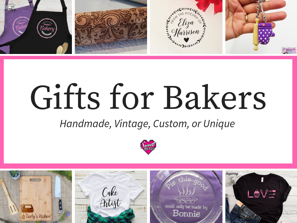 A graphic for gifts for bakers from Etsy