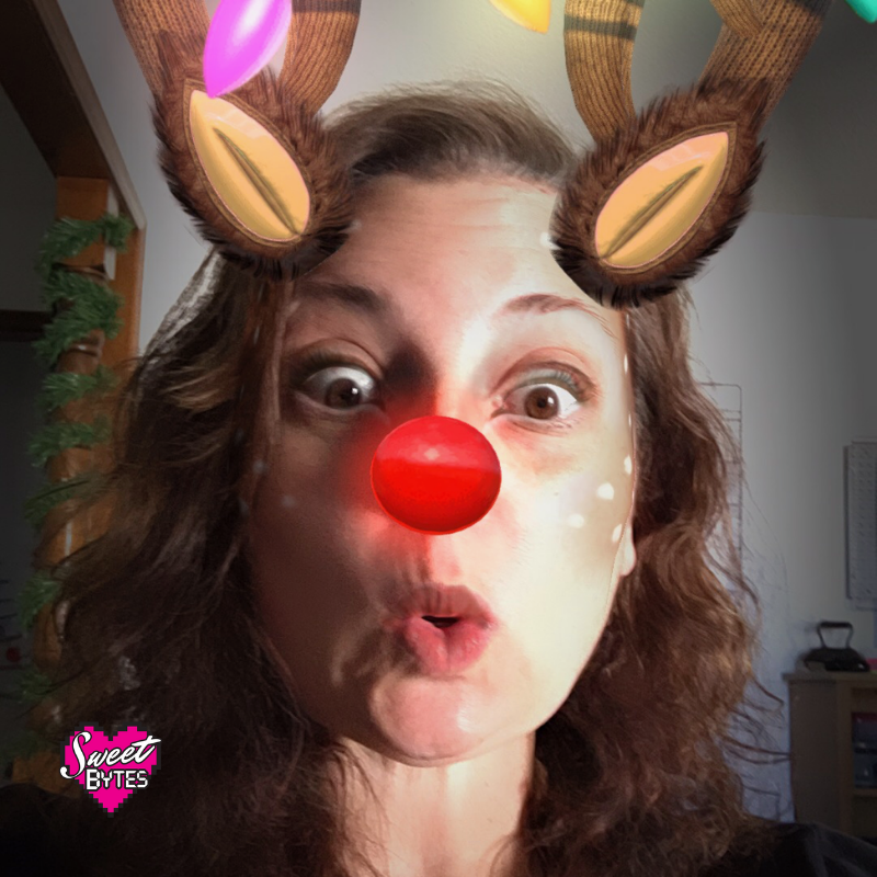 Me with reindeer filter, goodbye December!