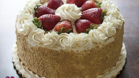 Terrific Strawberry And Cream Cake Sweet Bytes Okc Birthday Cards Printable Riciscafe Filternl