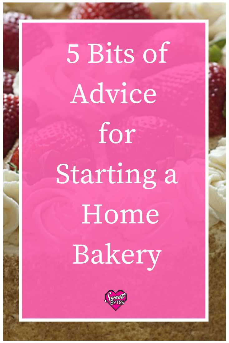 A pink graphic image for the article on starting a home bakery